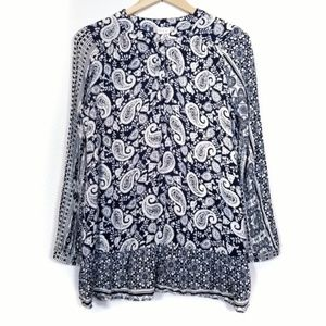 Altar'd State Blue Paisley Blouse Top Women's S